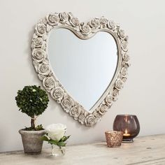 Roses heart mirror ~ ♥