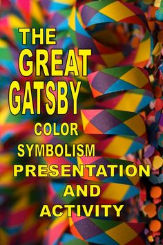 THE GREAT GATSBY is a fascinating novel for high school students. They are especially intrigued by Fitzgerald's use of color symbolism. Teach the novel with this beautiful presentation featuring color symbolism and examples in the novel. Follow with an engaging activity for individual students or in a collaborative group. Digital-enabled PDFs for in class or online distance learning. No-prep. Browse other Gatsby activities and check out color symbolism posters. Also available, guided essay.