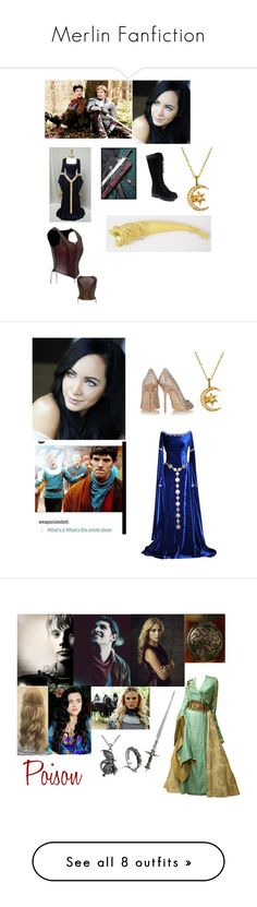 """""""Merlin Fanfiction"""" by mundca ❤ liked on Polyvore featuring Jimmy Choo, S.W.O.R.D., Carolina Glamour Collection, John Hardy, KOTUR, Plein Sud, Balmain, Bebe, WigYouUp and Privileged"""