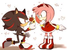I felt the need to draw something like this 😀 Smol story: Amy: Sonic? Do you really mean it? Sonic: Of course Ames! You're just so-so ADORABLE! *squishes Amy's cheeks* Amy: *squeaks* Sonic:...