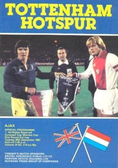 Spurs v Ajax ECWC programme Sept 1981