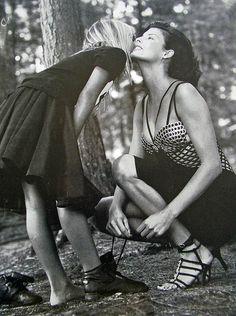 Versace Atelier (1994) Linda Evangelista by Bruce Weber