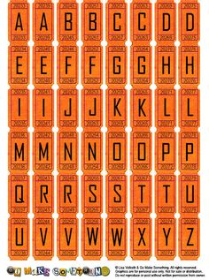 FREE Printable Alphabet Letters By Go Make Something