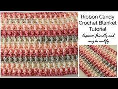 Ribbon Candy Crochet Blanket Tutorial - Beginner Friendly - YouTube