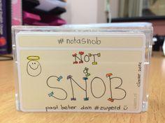 #notasnob