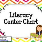 Cards and headings to create a Literacy Center Chart in your classroom.  The cards fit perfectly into a pocket chart and can be used with The Daily...