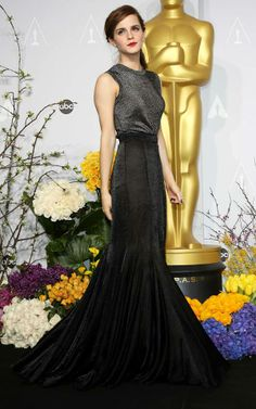 Emma Watson in one of the most beautiful dresses seen at the oscars 2014