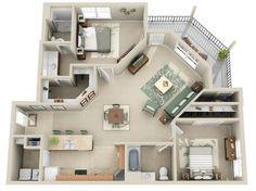 Добре розроблена 3d ідея дизайну будинку 60