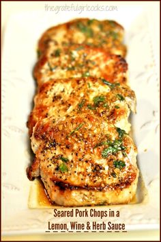 Seared And Roasted Pork Chops With Lemon Recipe — Dishmaps