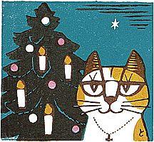 INAGAKI Tomoo - Cat and Christmas Tree