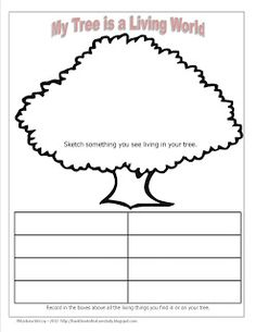 Handbook of Nature Study: Outdoor Hour Challenge: My Tree is a Living World free printable notebook page