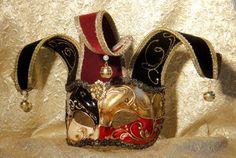 Court Jester Mask for Costume www.venetianfantasymasks.com