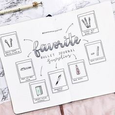 This is a cute way to keep your favorite things in collection form in your Bullet Journal. [Photo credit: Amiza Omar]