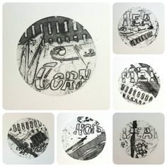 Hirst Arts, Collagraph, Sally, Printmaking, Mixed Media, Cards, Prints, Printing, Maps
