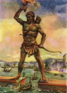 Colossus of Rhodes art Ancient Rome, Ancient Greece, Ancient History, Rhodes, Greece Mythology, Statues, Historical Monuments, Seven Wonders, Greek Art