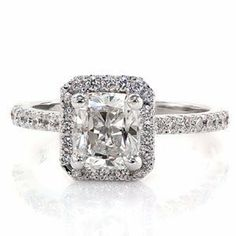 IGI Certified Near 1 Carat Classic Halo Radiant Cut Shape Diamond Engagement Ring (H-I Color I1-I2 Clarity) -.75 Carat Center (7) Chandni Jewels,http://www.amazon.com/dp/B00FQT71XO/ref=cm_sw_r_pi_dp_ZUW8sb077DBAW26J