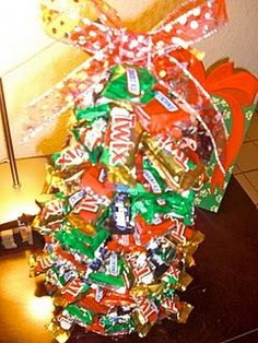 Leftover candy idea for family hostess gift :) Especially if you are doing a movie night with another family!!