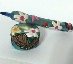 Monarch Butterfly dragonfly Pen Set handcraft art ooak refillable Bic inks