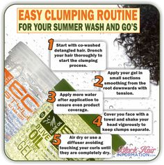Easy Clumping Routine For Your Summer Wash And Go's  http://www.blackhairinformation.com/our-newsletters/postcard-tips/easy-clumping-routine-for-your-summer-wash-and-gos-bhi-postcard-tips/