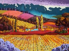 Vineyard in Winter by Gene Brown Acrylic on canvas
