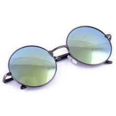 High Quality Fashion Unisex Retro Style Round Silver Metal Frame Sunglasses   eBay