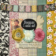 Scrapbooking TammyTags -- TT - Designer - Harper Finch, TT - Item - Kit or Collection, TT - Style - Sampler or Mini Kit