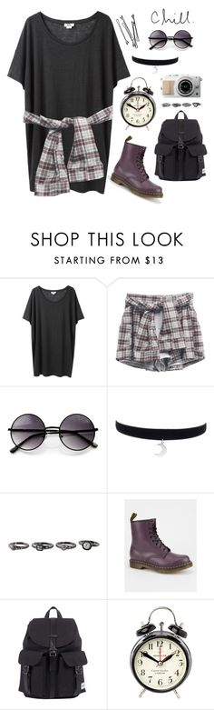 """Sucks."" by indie-by-heart ❤ liked on Polyvore featuring Acne Studios, ZeroUV, Dr. Martens, Herschel, BOBBY and Newgate"