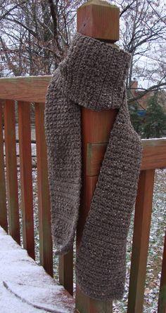 Burly Man's Tweed Scarf - free crochet pattern from Heather-thegoodlife.