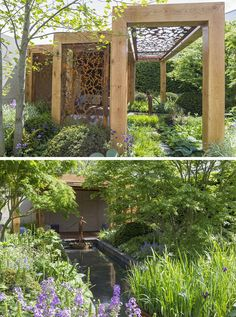 12 Inspirational Garden Designs From The 2016 Chelsea Flower Show // The Morgan Stanley Garden for Great Ormond Street Hospital, designed by Chris Beardshaw.