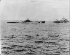 Capture of the Italian submarine Galileo Galilei. Gulf of Aden, June 1940. Galileo Galilei was one of eight Italian submarines operating out of Massawa, and is shown here being captured by the Royal Navy.
