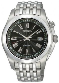 Seiko Men's SKA469P1 Black Dial Watch Seiko. Save 71 Off!. $129.99. Kinetic quartz movement. Case material: stainless steel. Hardlex crystal. Case diameter : 46 mm. Water-resistant to 100 M (330 feet)