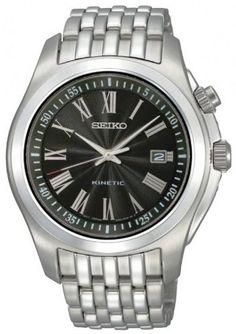 Seiko Men's SKA469P1 Black Dial Watch Seiko. $129.99. Case material: stainless steel. Kinetic quartz movement. Water-resistant to 100 M (330 feet). Case diameter : 46 mm. Hardlex crystal