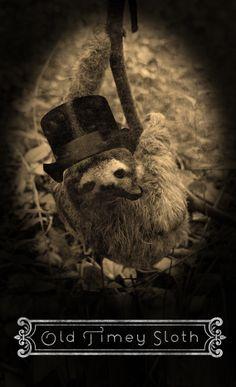 Old timey sloth.    www.etsystalkers.com