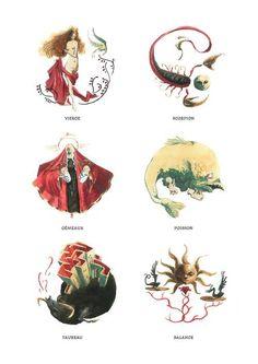Signes du zodiaque par Arnaud de Vivies
