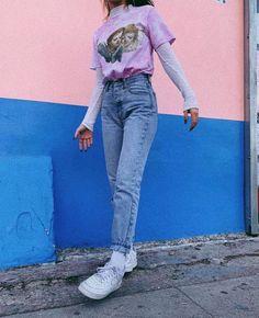 I slept # Vintage Outfits Retro slept vintage Vintagefa Retro Outfits, Throwback Outfits, Mode Outfits, Grunge Outfits, Outfits For Teens, Trendy Outfits, School Outfits, Summer Outfits, Cute Vintage Outfits