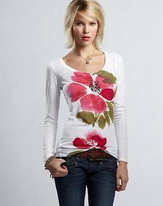 I love this Rose T-Shirt by Lucky Brand!!