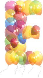 Oh my Alfabetos!: Alfabeto hecho con globos.