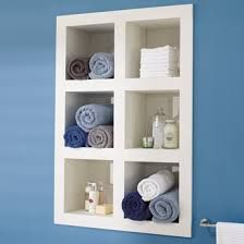 Image result for open shelves recessed into wall in bedroom