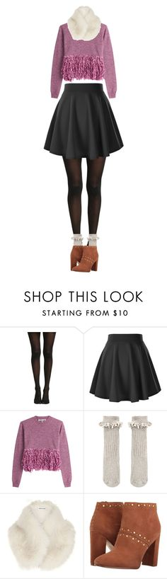 """Contest entry: ""Skater Skirt Style (Win Trophy)"""" by labellavita-15 ❤ liked on Polyvore featuring McQ by Alexander McQueen, Accessorize, River Island and Sam Edelman"