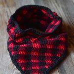 Crochet Plaid Triangle Cowl