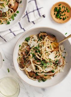 Mushrooms and tarragon make this a rich, yet light pasta thats perfect for weeknight dinners (or fancy enough for weekends!) Vegan and gluten free options.