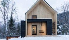 Dit vakantiehuis is Quebec heeft een prachtig interieur en een nog veel mooier uitzicht!