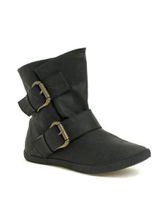 Blowfish Holdem Buckle Strapped Flat Ankle Boot...figures they're on sale when I don't have money