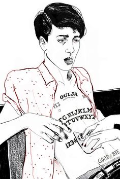 amanda lanzone art illustration ouija board
