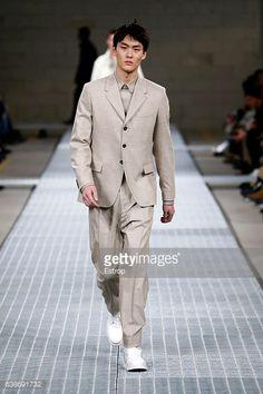 News Photo : A model walks the runway at the Dirk Bikkembergs...