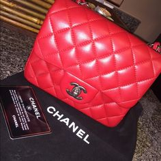 2e733c69747 Chanel mini flap red square red mini flap purchased from fashionphile so  it s AUTHENTIC comes with