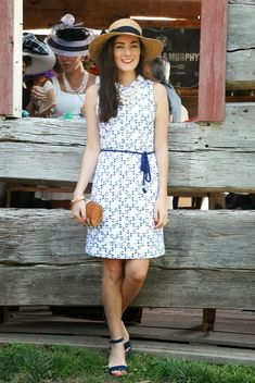 Dress:  Vineyard Vines  c/o Shoes:  Tory Burch  Hat:  Anthropologie  Clutch:  Vineyard Vines  c/o Necklace: ...