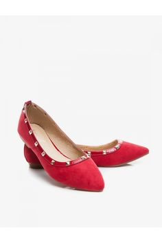 Jodie - flat shoes red suede