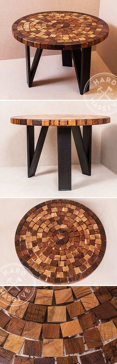 Round coffee table from the ends of different species of trees. The table is made in Eco furniture style. The base - metal | Круглый кофейный столик из торцов разных пород деревьев. Столик сделан в стиле Эко мебель. Основание - металл. #ecofurniture #roundcoffeetable #moderncoffetables