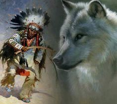 Beautiful Native American Wolf Art